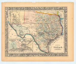 "Primary view of object titled '""County Map of Texas""'."