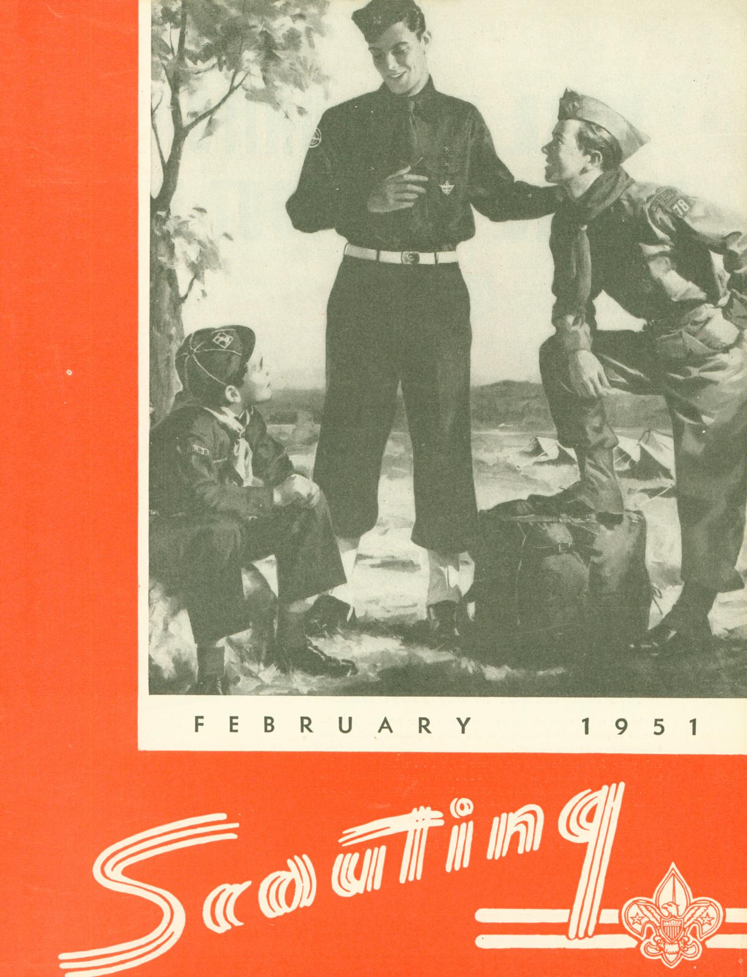 Scouting, Volume 39, Number 2, February 1951                                                                                                      Front Cover