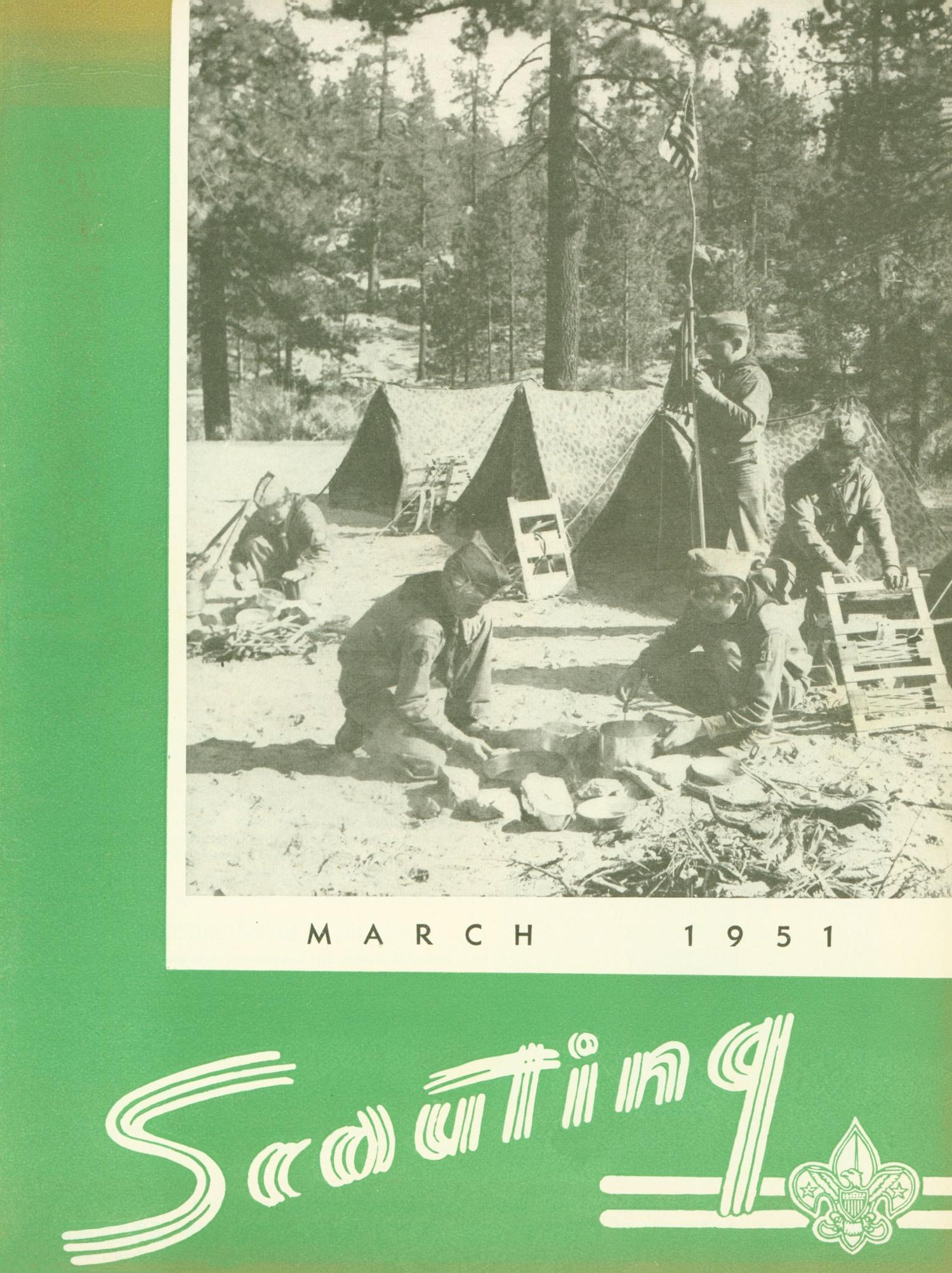 Scouting, Volume 39, Number 3, March 1951                                                                                                      Front Cover