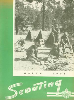 Primary view of object titled 'Scouting, Volume 39, Number 3, March 1951'.