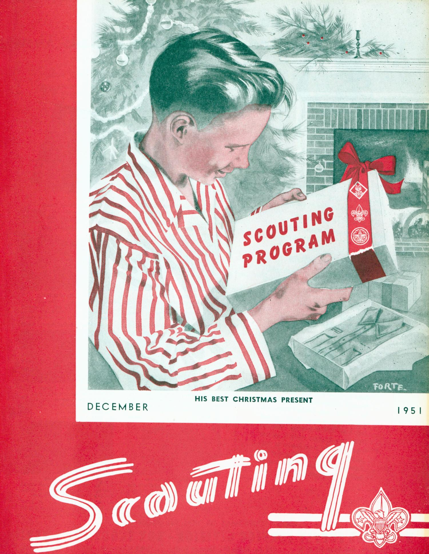 Scouting, Volume 39, Number 10, December 1951                                                                                                      Front Cover