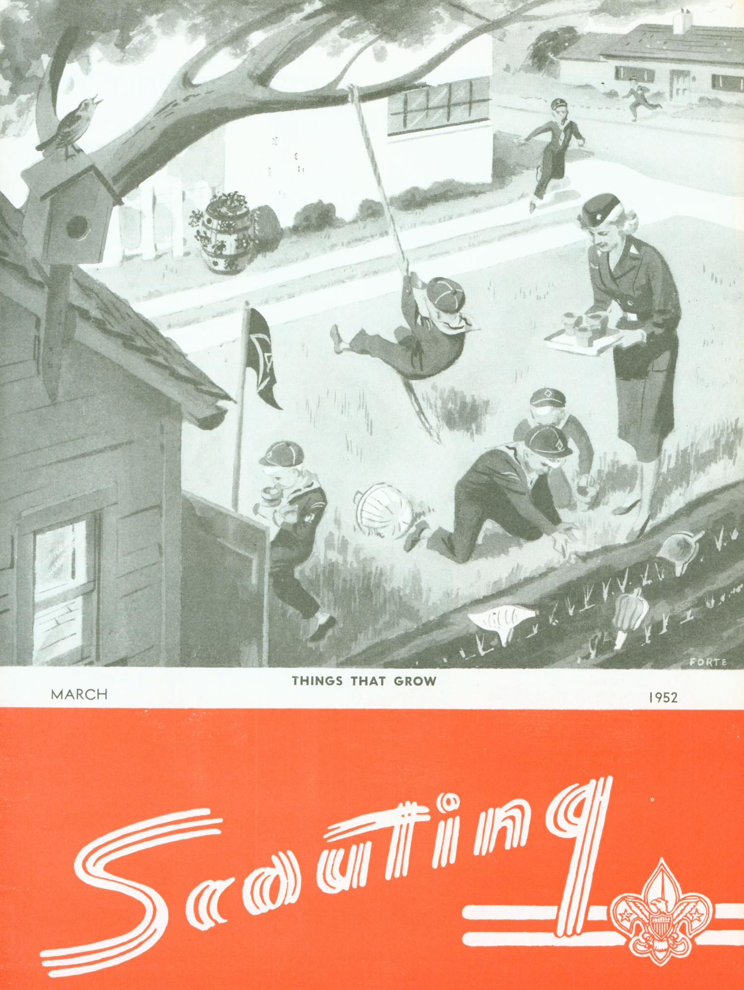 Scouting, Volume 40, Number 3, March 1952                                                                                                      Front Cover