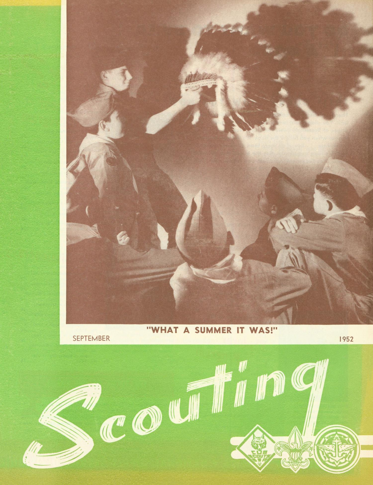 Scouting, Volume 40, Number 7, September 1952                                                                                                      Front Cover