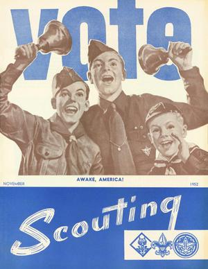 Primary view of object titled 'Scouting, Volume 40, Number 9, November 1952'.