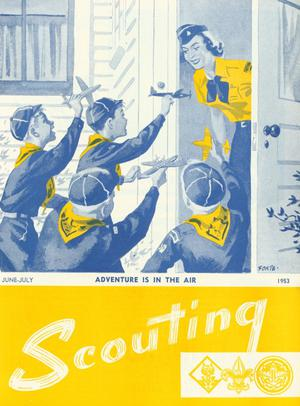 Primary view of object titled 'Scouting, Volume 41, Number 6, June-July 1953'.