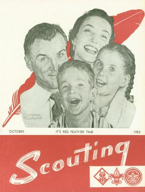 Primary view of object titled 'Scouting, Volume 41, Number 8, October 1953'.