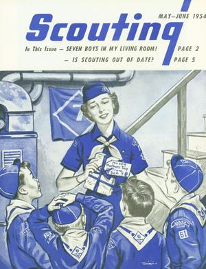 Primary view of object titled 'Scouting, Volume 42, Number 5, May-June 1954'.