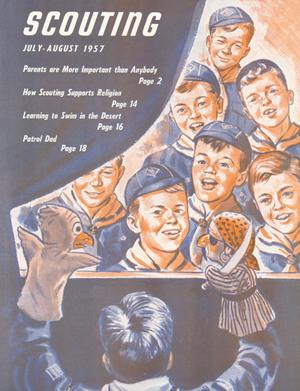 Scouting, Volume 45, Number 6, July-August 1957