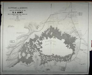 "Primary view of object titled '""Battles of Mexico: line of operations of the U.S. Army under the command of Major General Winfield Scott on the 19th and 20th of August 1847""'."