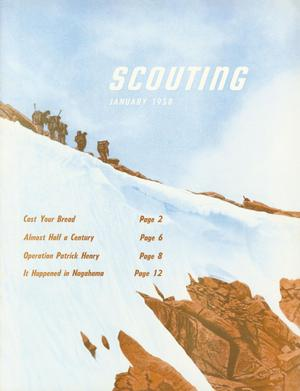 Primary view of object titled 'Scouting, Volume 46, Number 1, January 1958'.