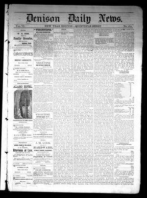 Primary view of object titled 'Denison Daily News. (Denison, Tex.), Vol. 6, No. 264, Ed. 1 Tuesday, December 31, 1878'.