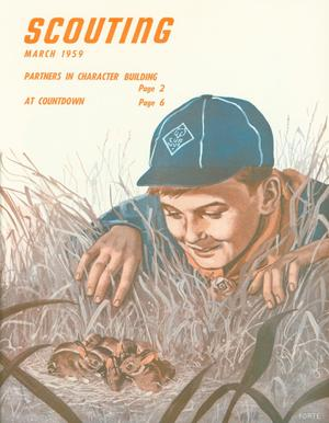 Primary view of Scouting, Volume 47, Number 3, March 1959