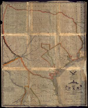 "Primary view of object titled '""Map of Texas With Parts of the Adjoining States""'."