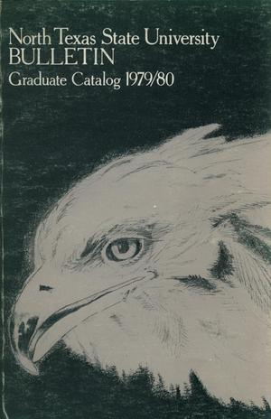 Primary view of object titled 'Catalog of North Texas State University, 1979-1980, Graduate'.