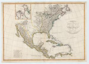 "Primary view of object titled '""A map of North America; published under the patronage of the Duke of Orleans by d'Anville.""'."