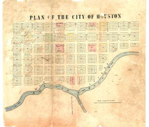 Primary view of object titled 'Plan of the city of Houston'.