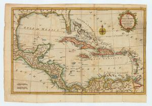 "Primary view of object titled '""Map of the Gulf of Mexico, the Islands and Countries adjacent""'."