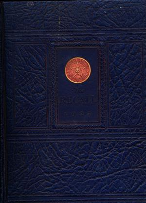 Primary view of object titled 'The Recall, Yearbook of Schreiner Institute, 1927'.