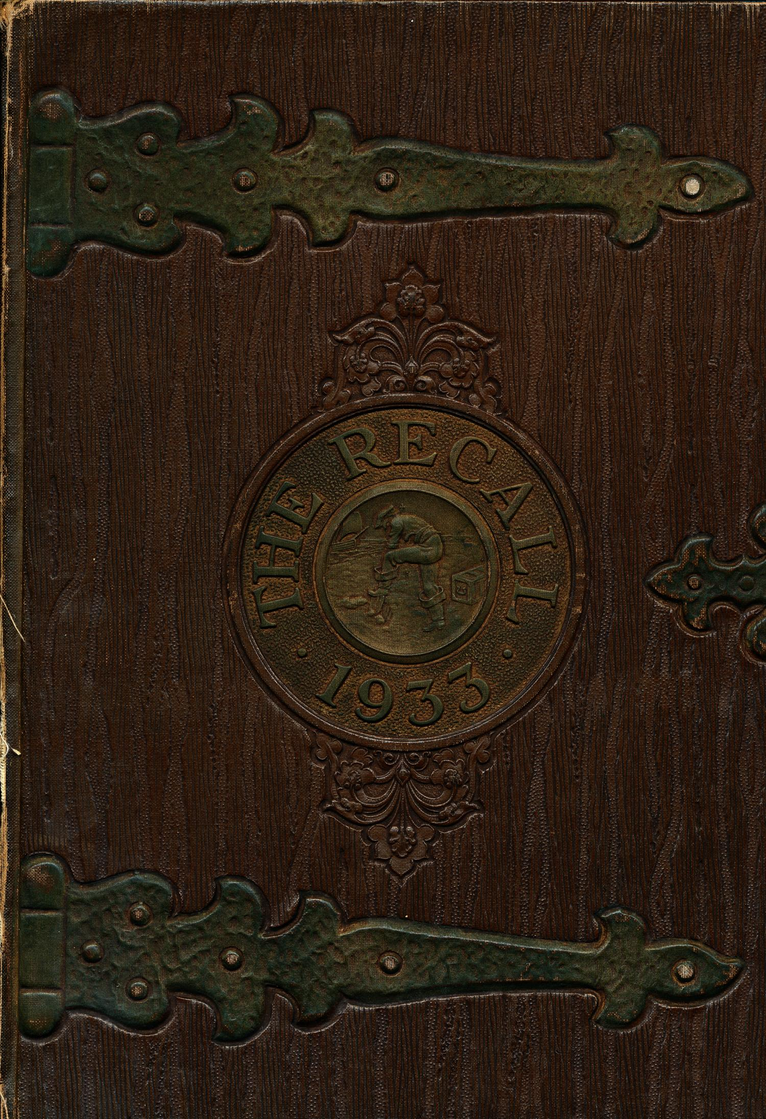 The Recall, Yearbook of Schreiner Institute, 1933                                                                                                      Front Cover