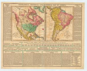 "Primary view of object titled '""Geographical, historical, and statistical map of America.""'."