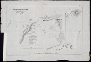 "Primary view of object titled '""Sketch of the Operations of the 1st Division United States Army under the command of General Worth on the 8th Sept. 1847""'."
