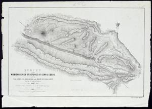 "Primary view of object titled ''Survey of the Mexican lines of defence at Cerro Cordo and the lines of attack of the American Army under Major General Scott, on the 17th and 18th of April 1847""'."