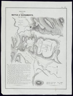 "Primary view of object titled '""Sketch of the Battle of Sacramento, Feb. 28th, 1847""'."