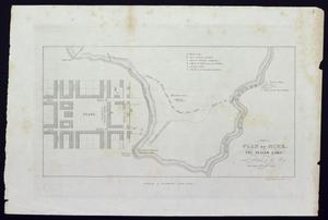 "Primary view of object titled '""Plan of Mier.  The Texian camp and attack on the city""'."