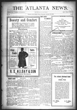 Primary view of object titled 'The Atlanta News. (Atlanta, Tex.), Vol. 9, No. 11, Ed. 1 Thursday, October 29, 1908'.
