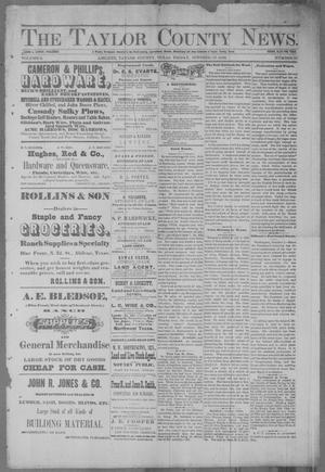 Primary view of object titled 'The Taylor County News. (Abilene, Tex.), Vol. 2, No. 31, Ed. 1 Friday, October 15, 1886'.