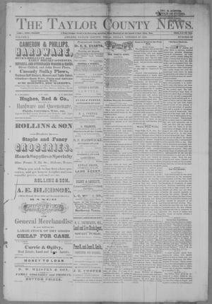 Primary view of object titled 'The Taylor County News. (Abilene, Tex.), Vol. 2, No. 33, Ed. 1 Friday, October 29, 1886'.