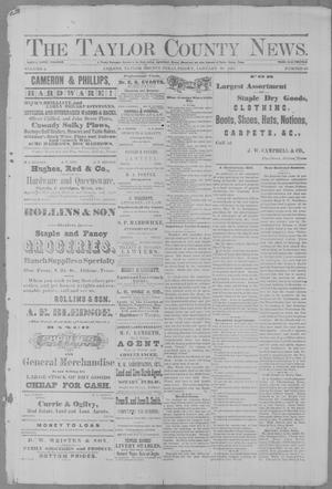Primary view of object titled 'The Taylor County News. (Abilene, Tex.), Vol. 2, No. 45, Ed. 1 Friday, January 21, 1887'.