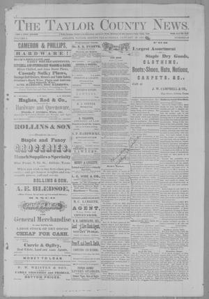 Primary view of object titled 'The Taylor County News. (Abilene, Tex.), Vol. 2, No. 46, Ed. 1 Friday, January 28, 1887'.