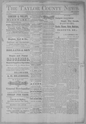 Primary view of object titled 'The Taylor County News. (Abilene, Tex.), Vol. 2, No. 49, Ed. 1 Friday, February 18, 1887'.