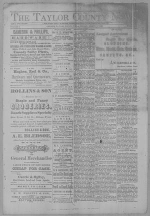 Primary view of object titled 'The Taylor County News. (Abilene, Tex.), Vol. 2, No. 52, Ed. 1 Friday, March 11, 1887'.