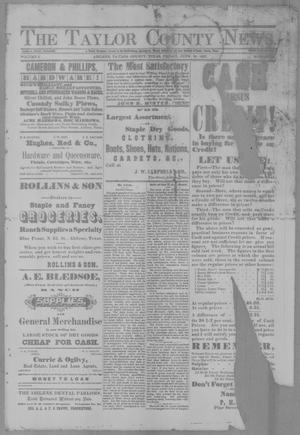 Primary view of object titled 'The Taylor County News. (Abilene, Tex.), Vol. 3, No. 15, Ed. 1 Friday, June 24, 1887'.