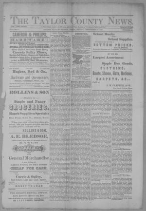 Primary view of object titled 'The Taylor County News. (Abilene, Tex.), Vol. 3, No. 28, Ed. 1 Friday, September 23, 1887'.