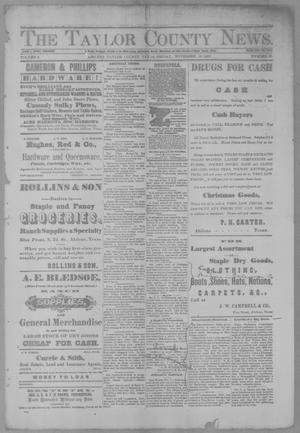 Primary view of object titled 'The Taylor County News. (Abilene, Tex.), Vol. 3, No. 36, Ed. 1 Friday, November 18, 1887'.