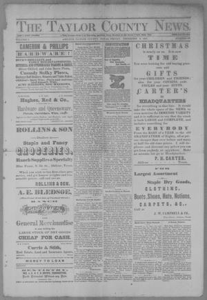 Primary view of object titled 'The Taylor County News. (Abilene, Tex.), Vol. 3, No. 38, Ed. 1 Friday, December 2, 1887'.