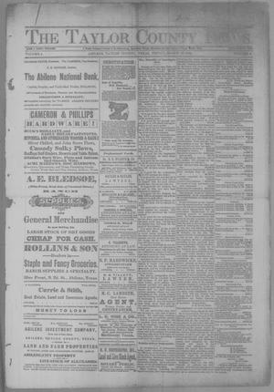 Primary view of object titled 'The Taylor County News. (Abilene, Tex.), Vol. 4, No. 2, Ed. 1 Friday, March 23, 1888'.