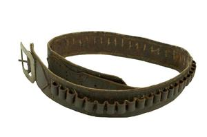 Primary view of object titled 'Ammunition belt'.