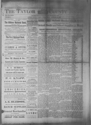 Primary view of object titled 'The Taylor County News. (Abilene, Tex.), Vol. 5, No. 28, Ed. 1 Friday, September 20, 1889'.