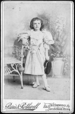 Primary view of object titled '[Eliza Jones as a young girl.]'.