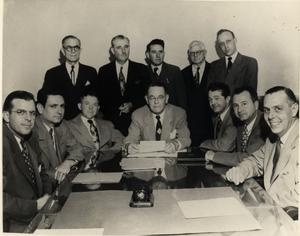 Primary view of object titled 'Irving State Bank Board of Directors, 1949'.