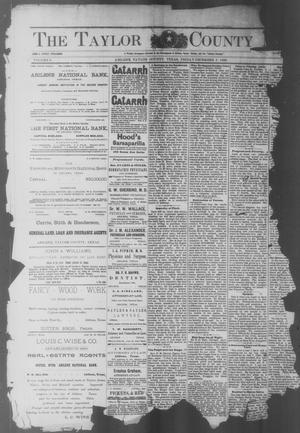 Primary view of object titled 'The Taylor County News. (Abilene, Tex.), Vol. 6, No. 41, Ed. 1 Friday, December 5, 1890'.