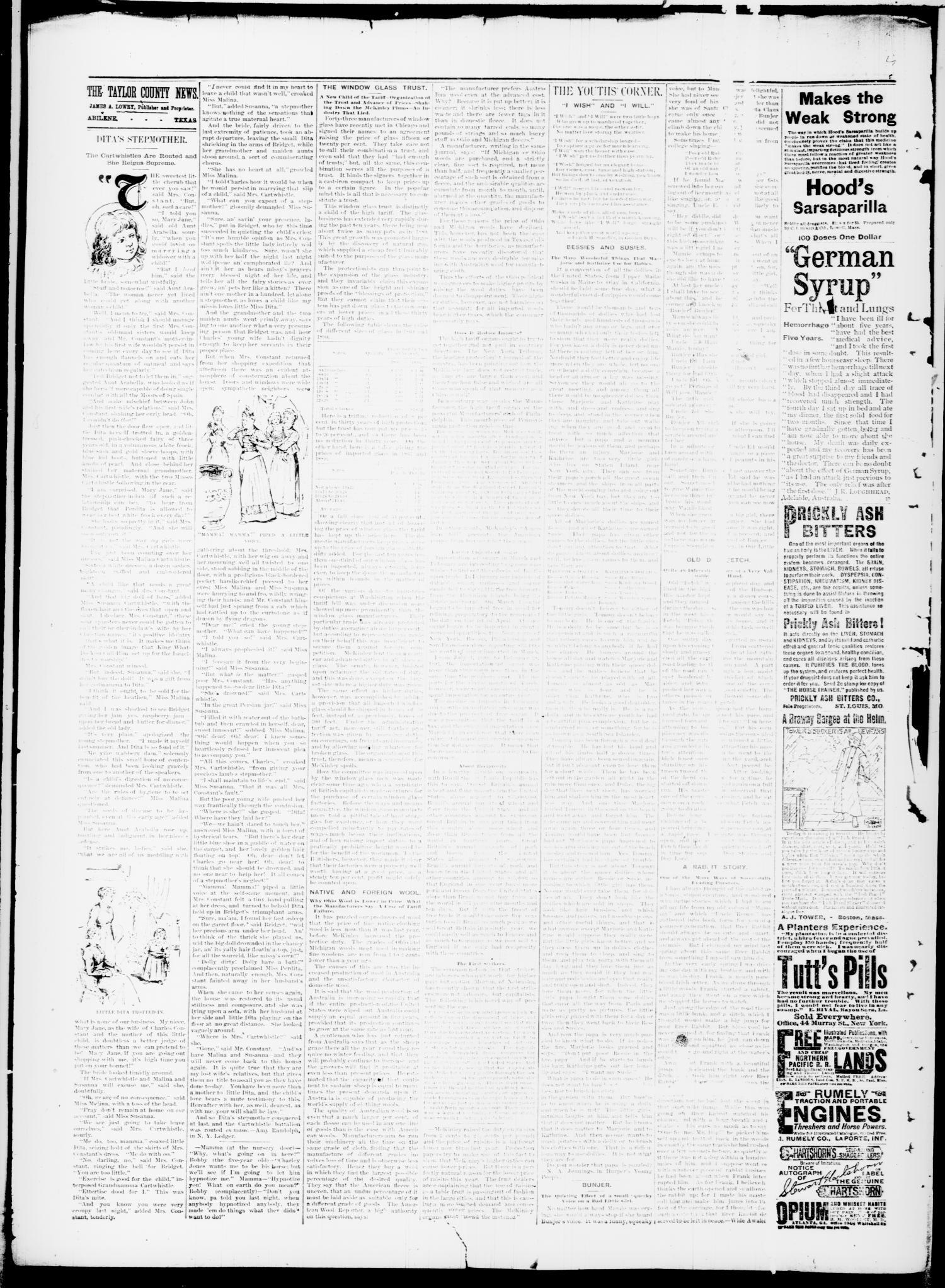 The Taylor County News Abilene Tex Vol 7 No 17 Ed