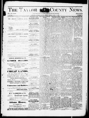 Primary view of object titled 'The Taylor County News. (Abilene, Tex.), Vol. 7, No. 24, Ed. 1 Friday, August 7, 1891'.