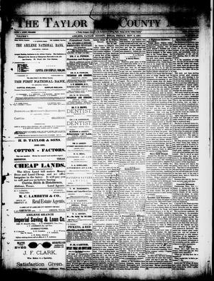 Primary view of object titled 'The Taylor County News. (Abilene, Tex.), Vol. 7, No. 37, Ed. 1 Friday, November 6, 1891'.