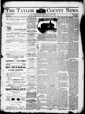 Primary view of object titled 'The Taylor County News. (Abilene, Tex.), Vol. 7, No. 41, Ed. 1 Friday, December 4, 1891'.