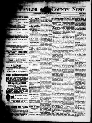 Primary view of object titled 'The Taylor County News. (Abilene, Tex.), Vol. 8, No. 22, Ed. 1 Friday, July 22, 1892'.